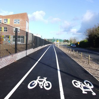 Bicycle lane surfacing